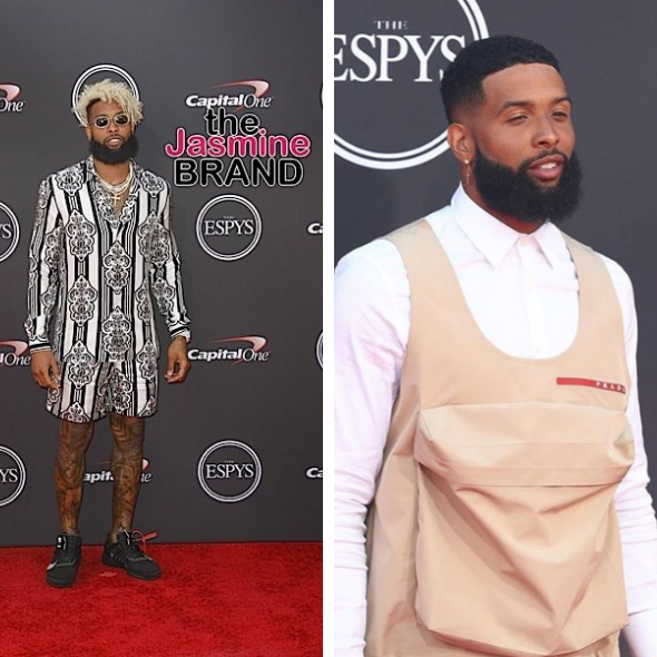 Odell Beckham Jr Debuts New Haircut Unique Outfit For Espy