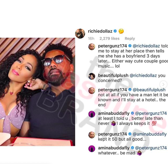 Peter Gunz Calls Out Amina Buddafly For Inviting Him To