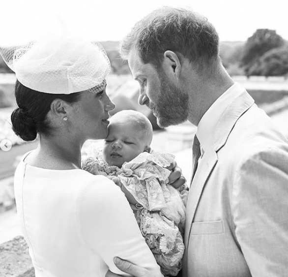 Meghan Markle & Prince Harry Celebrate Royal Christening of Baby Archie