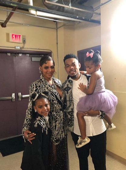 "Chance The Rapper Poses W/ Beyonce & Blue Ivy, Reveals His Full Circle ""The Lion King"" Moment"