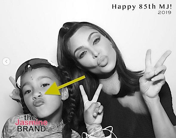 Kim Kardashian's 6-Year-Old Daughter North West Wears Fake Nose Ring [Photos]