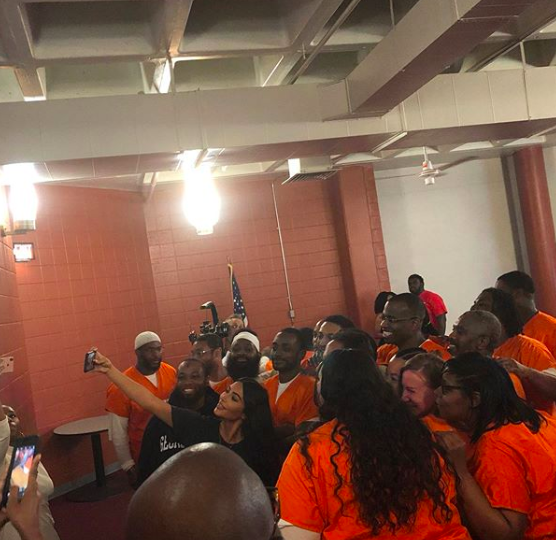 Kim Kardashian Visits DC Department of Corrections [Photos]