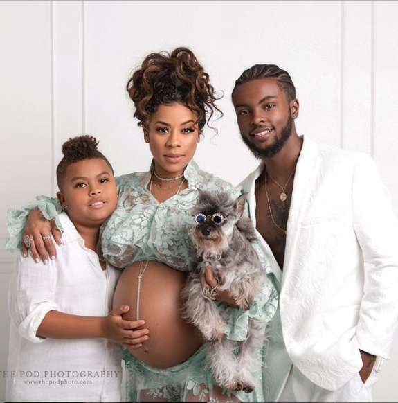 Keyshia Cole Is Ready To Pop! Poses W/ Boyfriend, Son & Adorable Dog In New Maternity Shoot