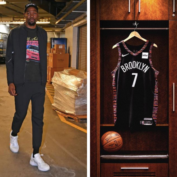 Kevin Durant Announces He's Wearing Number 7 After Joining Brooklyn Nets