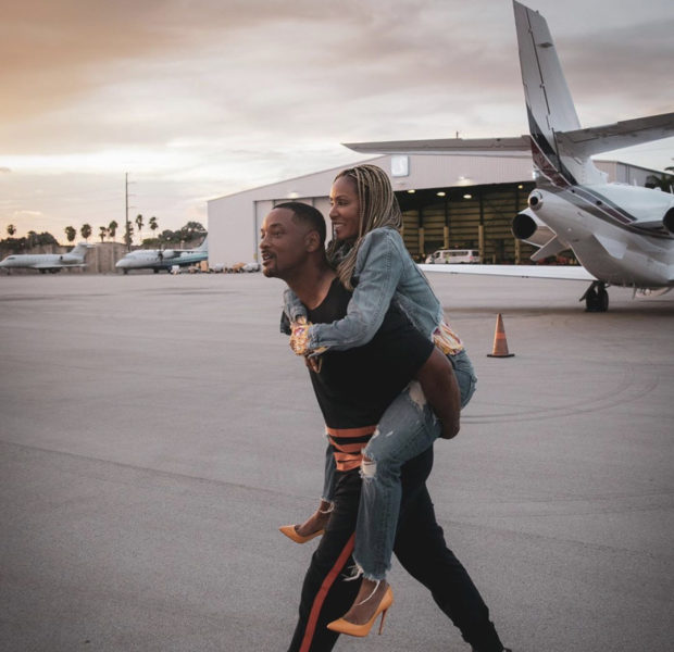 Will Smith Sweetly Gives Jada Pinkett-Smith A Piggy Back Ride [Photo]