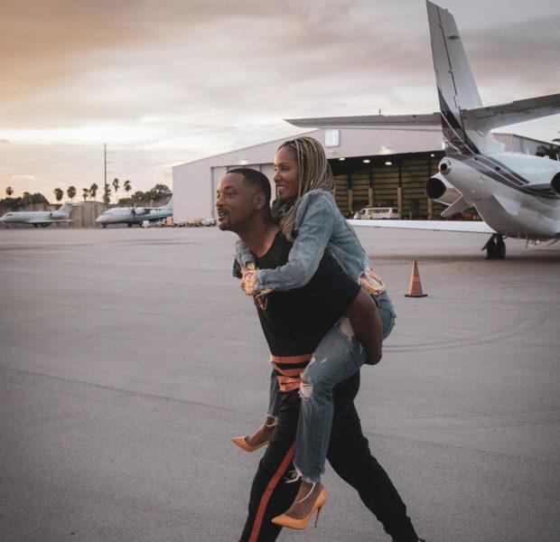 Will Smith Sweetly Gives Jada Pinkett-Smith A Piggy Back Ride [Photo]