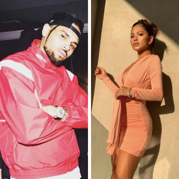 Chris Brown's Rumored Baby Mama Ammika Harris Posts Flat Stomach, Amidst Reports She's Pregnant W/ His Child