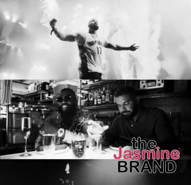 "Drake Goes Black & White For ""Money In Grave"" Video feat. Rick Ross"