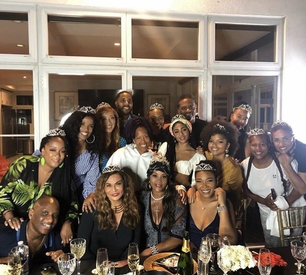Tina Lawson Throws Versace Themed Dinner Party For Vivica A. Fox's B-Day: Regina King, Tasha Smith & Simone Smith Attend