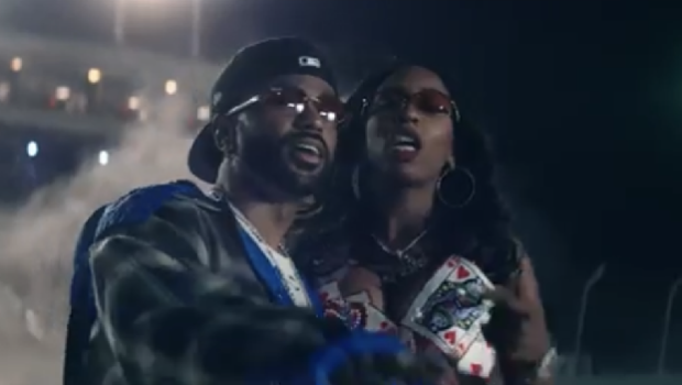 "Big Sean & Kash Doll Celebrate Success In Race Car Themed ""Ready Set"" Music Video"