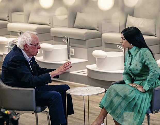 Cardi B Teases Sit Down With Bernie Sanders