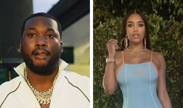 Meek Mill Spotted On Private Jet With Rumored Girlfriend Milan Harris
