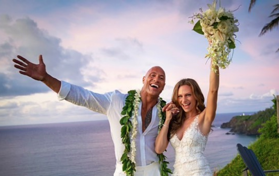 The Rock Marries Longtime Girlfriend Lauren Hashian [Photos]