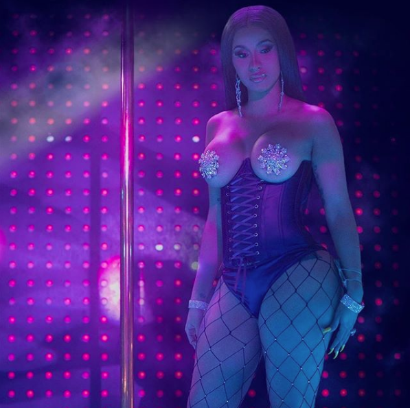 "Cardi B Is Topless W/ Tassels, Teasing Her Stripper Character For ""Hustlers"" Movie"