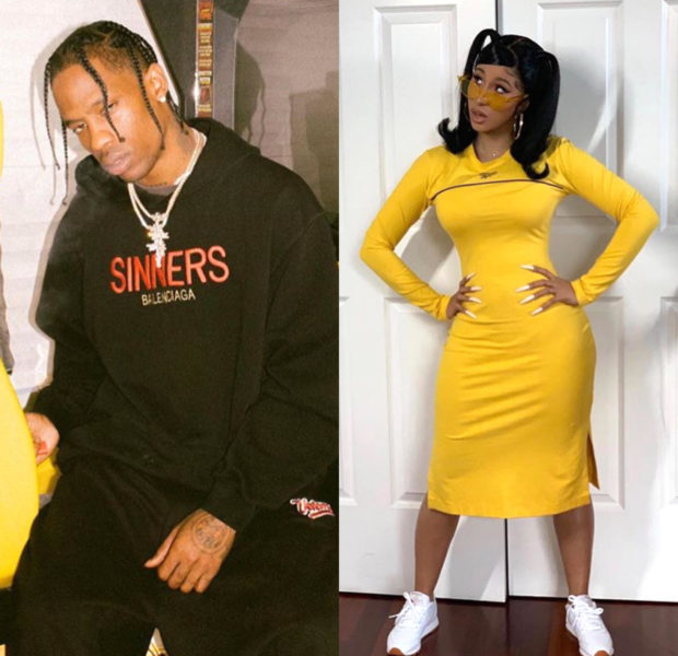 Cardi B Says She Has A 'Good Relationship W/ Travis Scott', After New Docu Shows Him Angry Over Losing Grammy To Her