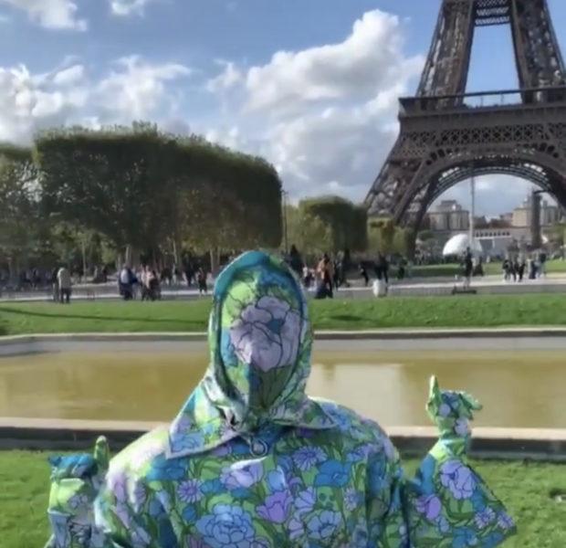 Cardi B Wears Full Head-to-Toe Floral Ensemble For Paris Fashion Week [VIDEO]