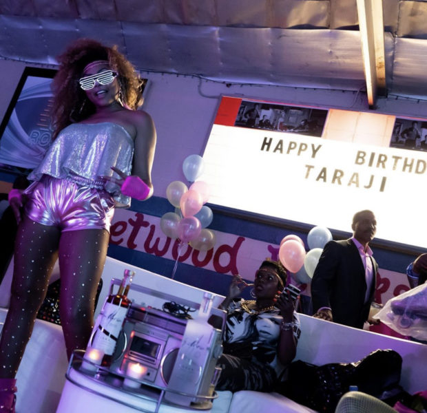 Taraji P. Henson Parties w/ Mary J. Blige, Jennifer Hudson & Tasha Smith For 80's Themed Skating Party