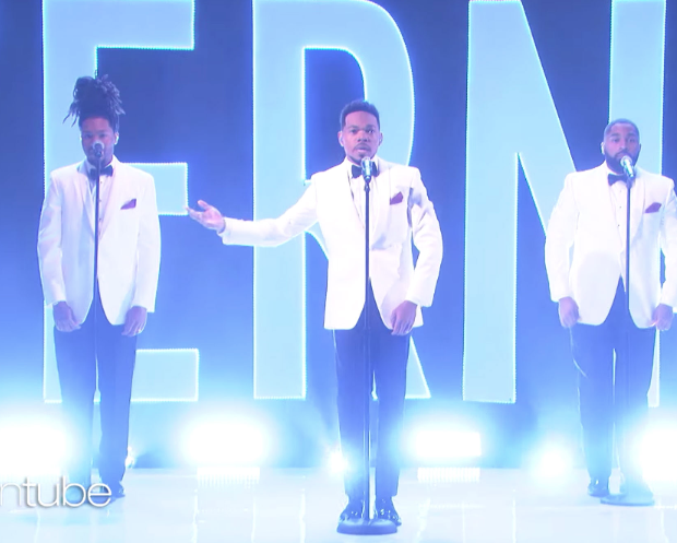 "Chance The Rapper Slips & Says N-Word During ""Eternal"" Performance On Ellen [VIDEO]"