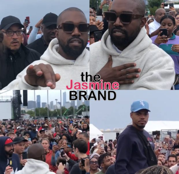 "Kanye West Parts The Sea Like Biblical Character Moses During His Sunday Service In Chicago, Tells Security ""This Is My City"" + Chance The Rapper Performs [WATCH]"