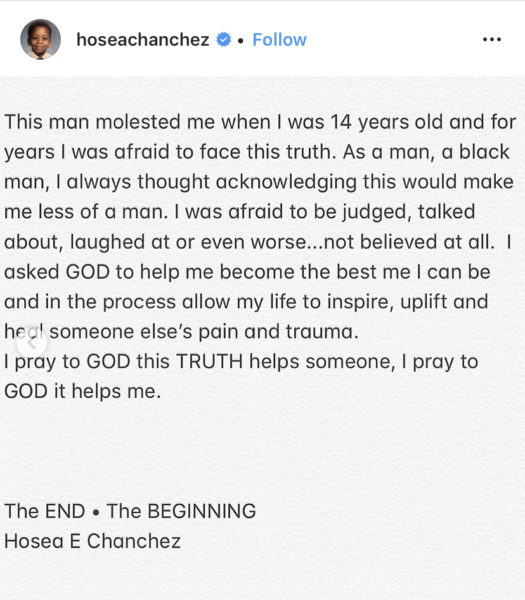 Hosea Chancez - Man Accused Of Sexual Abuse By Actor, Also
