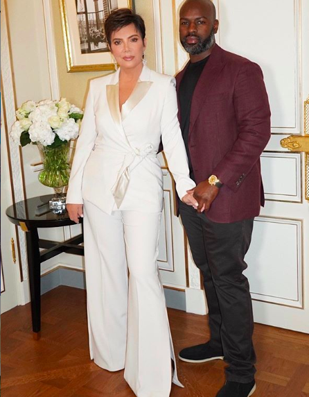 Kris Jenner & Boyfriend Corey Gamble Pose In Paris [Photos]