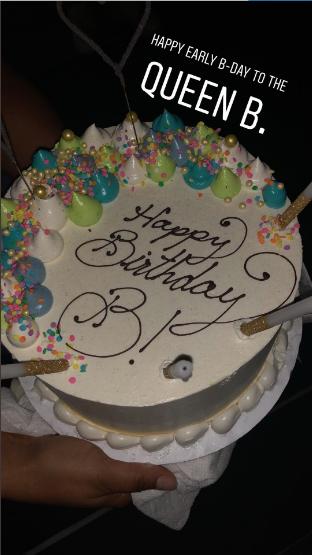Astounding Beyonce Celebrates Her Birthday Early Thejasminebrand Personalised Birthday Cards Veneteletsinfo