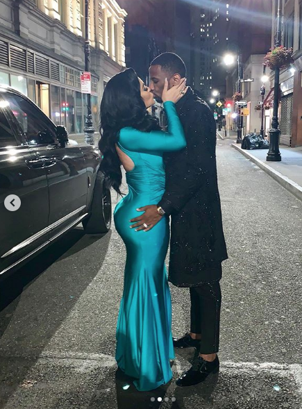Fabolous & Emily Passionately Kiss For The 'Gram! [Photos]