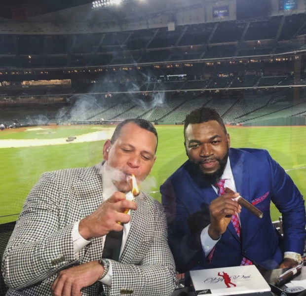 Alex Rodriguez & David Ortiz Playfully Light Up Cigars In Non-Smoking Area