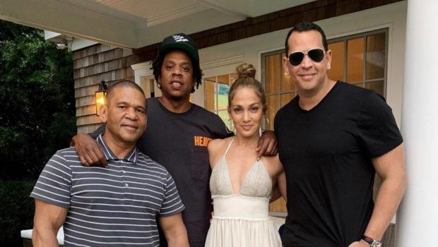 Jay-Z Visits Jennifer Lopez & Alex Rodriguez's Home
