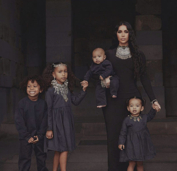 Kim Kardashian & Her Four Children Wear All Black, While Celebrating U.S. House of Representatives Acknowledging The Armenian Genocide