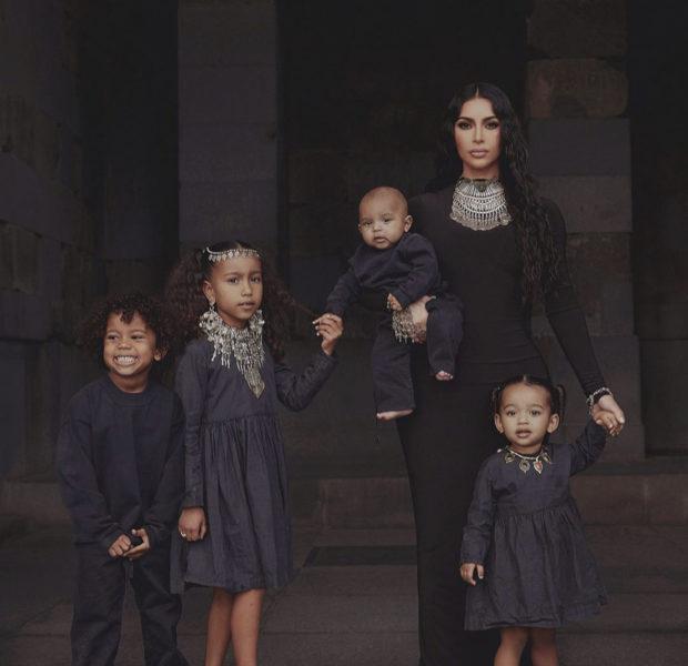 Kim Kardashian & Her Four Children Wear All Black, While Celebrating U.S. House of Representatives Acknowledging The Armenian Genocide