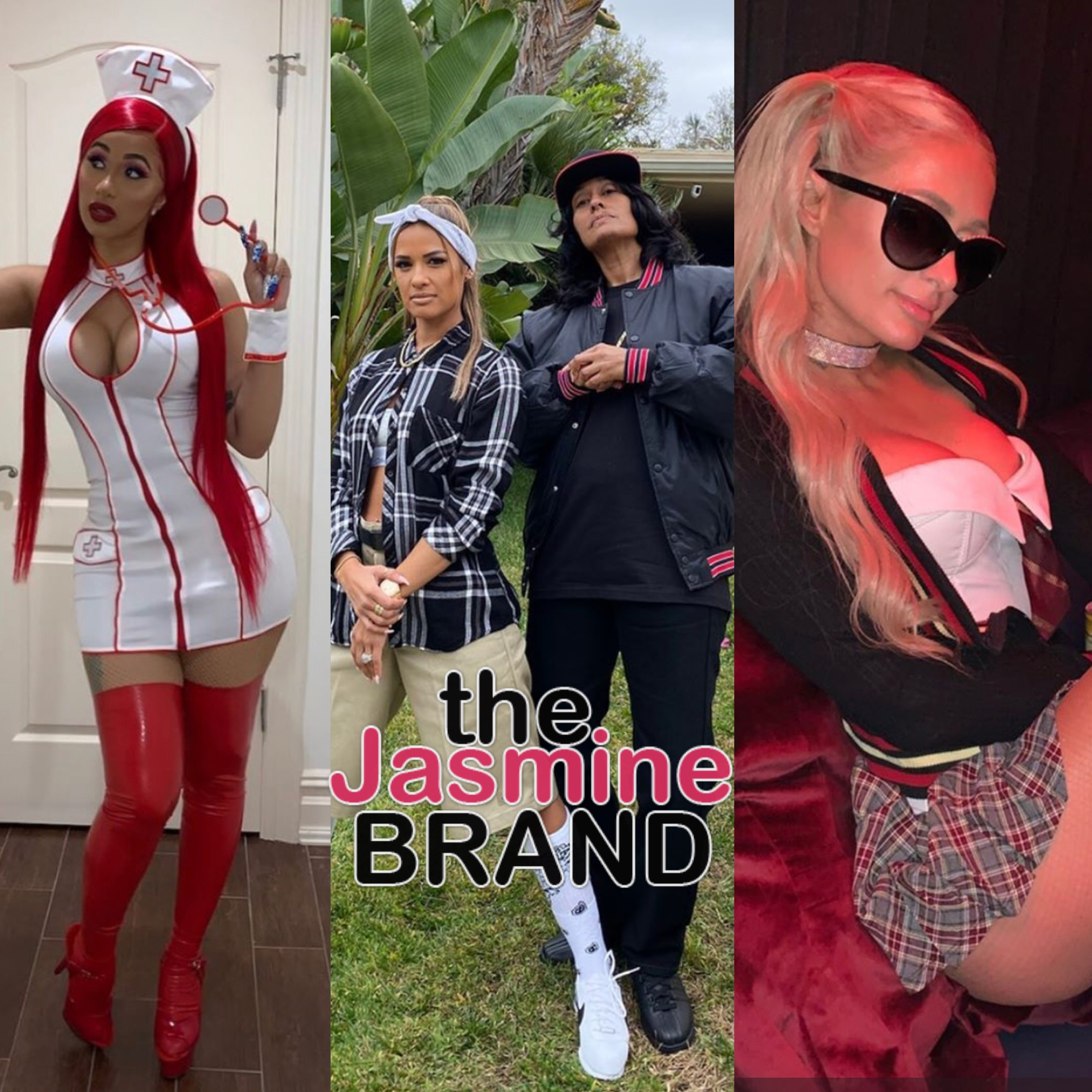 Pre Halloween Costumes Cardi B Tracy Ellis Ross Nicki Minaj Paris Hilton Larsa Pippen Photos Thejasminebrand