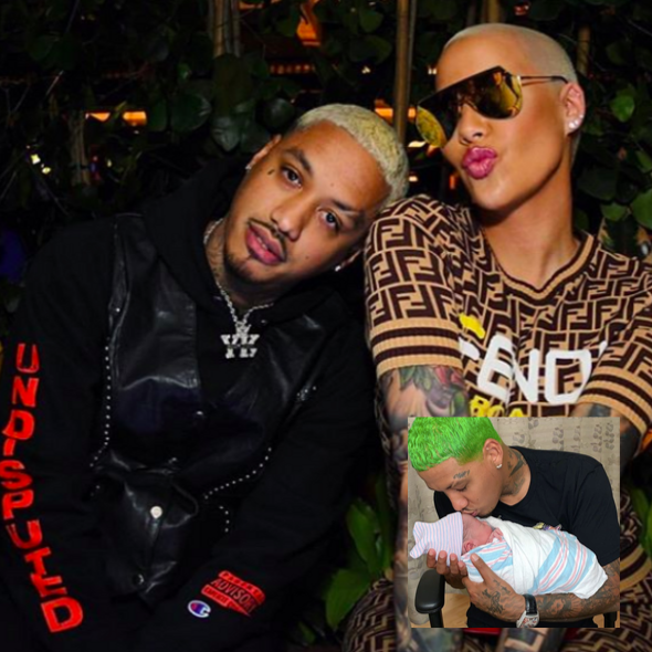Amber Rose & Boyfriend AE Welcome Baby Boy, Slash Electric Alexander Edwards