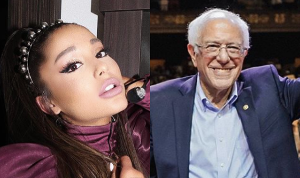 Ariana Grande Fans Out After Bernie Sanders Responds To Her Tweet