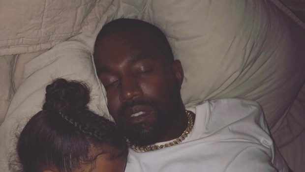 Kim Kardashian Snaps Kanye & North Sweetly Sleeping [Photo]