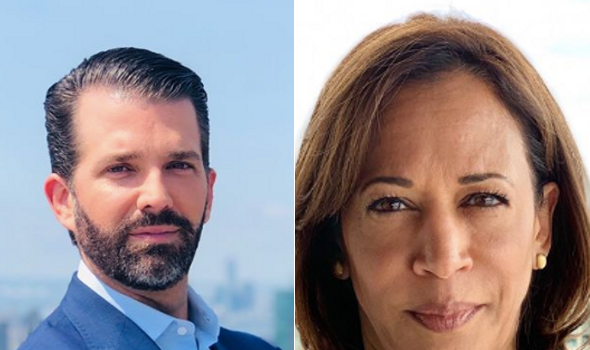 Donald Trump, Jr. & Kamala Harris Trade Shade 'You Wouldn't Know A Joke If One Raised You'