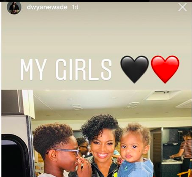 Dwyane Wade Refers To Son Zion As A Girl In Photo W/ Wife Gabrielle Union & Infant Daughter Kaavia