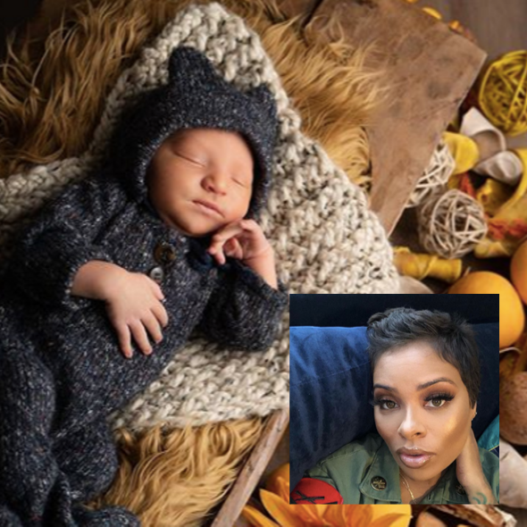'RHOA' Star Eva Marcille Debuts Newborn Son Maverick Sterling! [Photo]