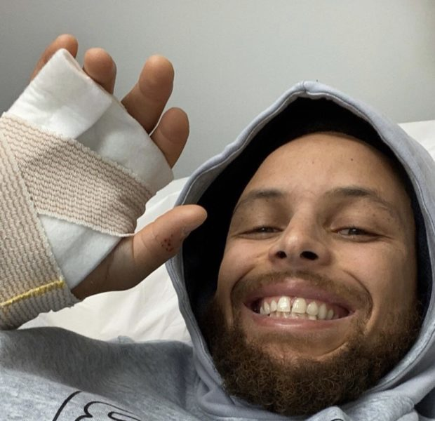 NBA Star Steph Curry Shows Off Broken Hand: Be Back Soon!