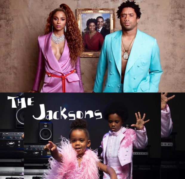 Ciara & Russell Wilson Pay Homage To Jay-Z & Beyonce, Kids Transform Into Randy & Janet Jackson [VIDEO]