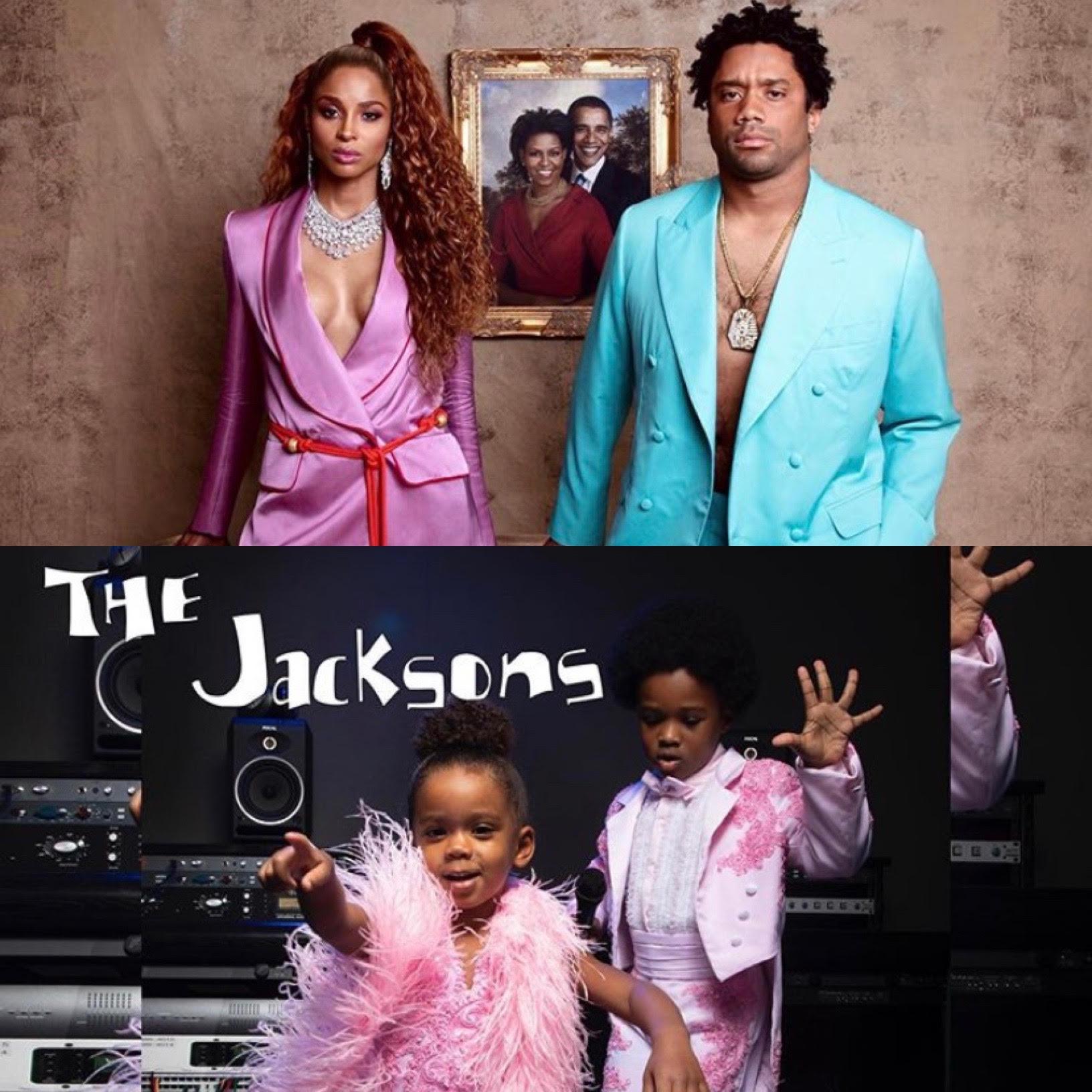 Ciara Russell Wilson Pay Homage To Jay Z Beyonce Kids Transform Into Randy Janet Jackson Video Thejasminebrand