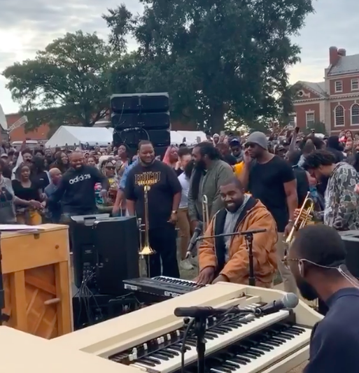 Kanye West Takes Sunday Service To Howard University's Homecoming [VIDEO]