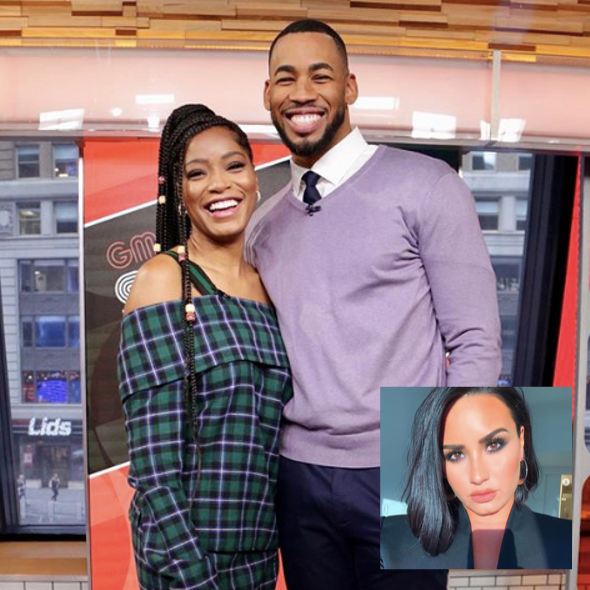 'Bachelorette' Star Mike Johnson Shoots His Shot With KeKe Palmer On Live TV, After Revealing He Kissed Demi Lovato