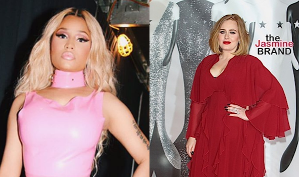 Nicki Minaj Says Adele Collaboration Isn't Happening After All 'I Was Being Sarcastic!'