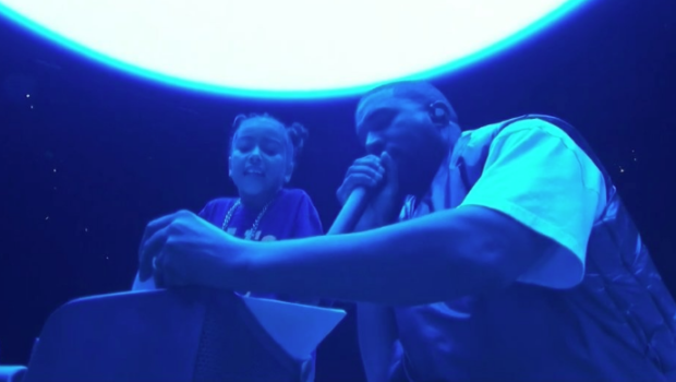 North West Appears On Stage & Passionately Sings During Kanye's Sunday Service [VIDEO]