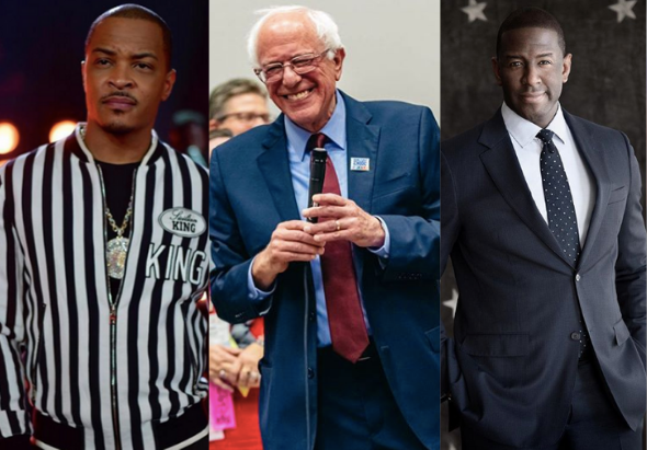 T.I. Says If Election Was Tomorrow, Bernie Sanders Is 'The Only Person Who Has A Chance' To Beat Trump, Wants Andrew Gillum To Be His Running Mate
