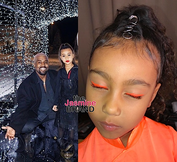 Kim Kardashian Says Kanye Not Allowing North To Wear Makeup Is 'A Big Fight In The Household Right Now'
