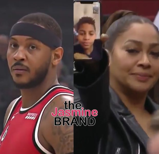 Carmelo Anthony FaceTimes With Son From Lala's Phone After Making NBA History Against Bulls [VIDEO]