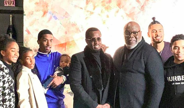 Diddy & His Family Spotted At Bishop T.D. Jakes's Church [VIDEO]