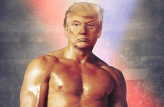 President Donald Trump Posts Photo Of His Face On Rocky Balboa's Body